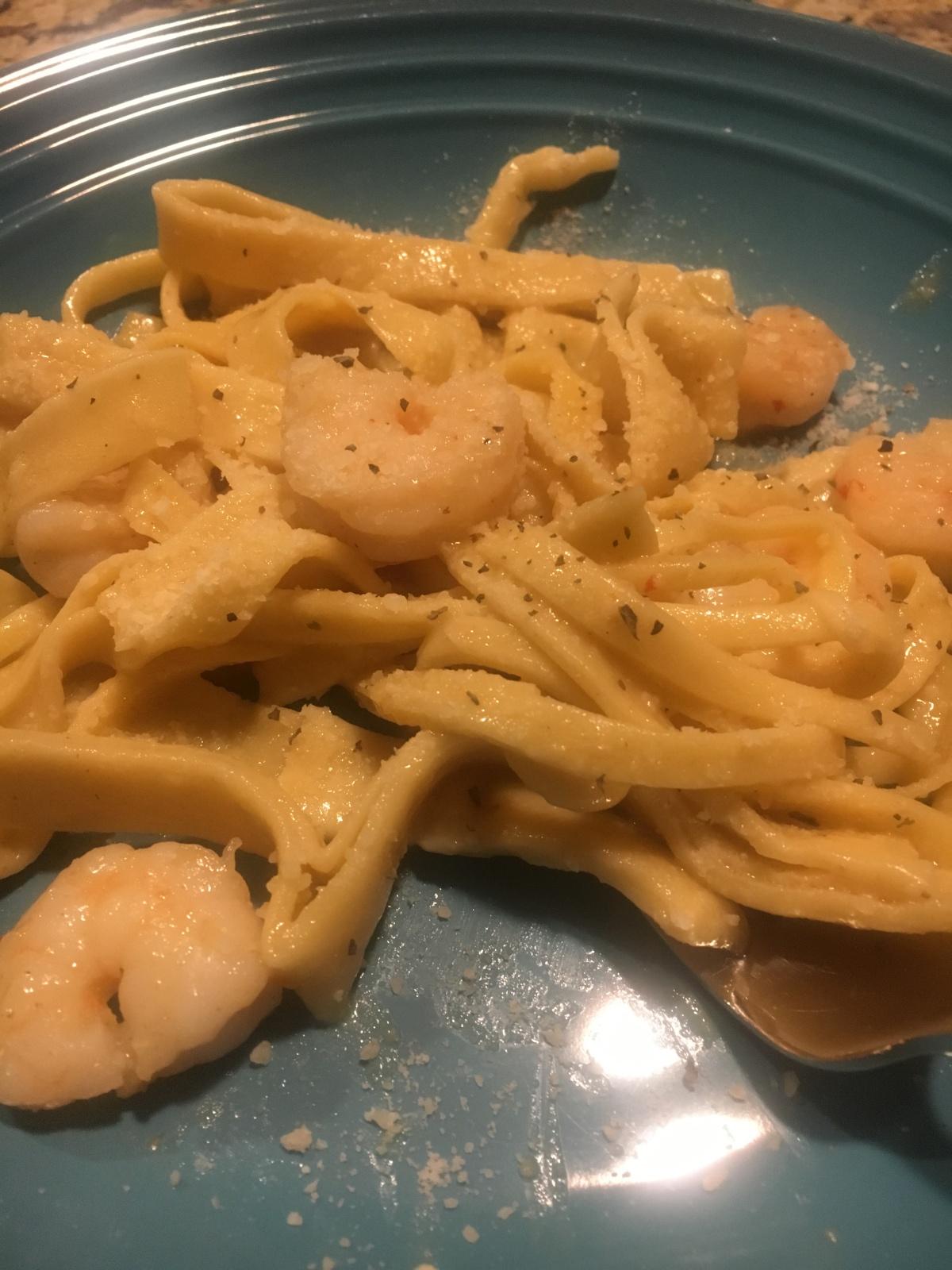 Pete & Kathy's Garlic Parmesan Shrimp ScampiPasta
