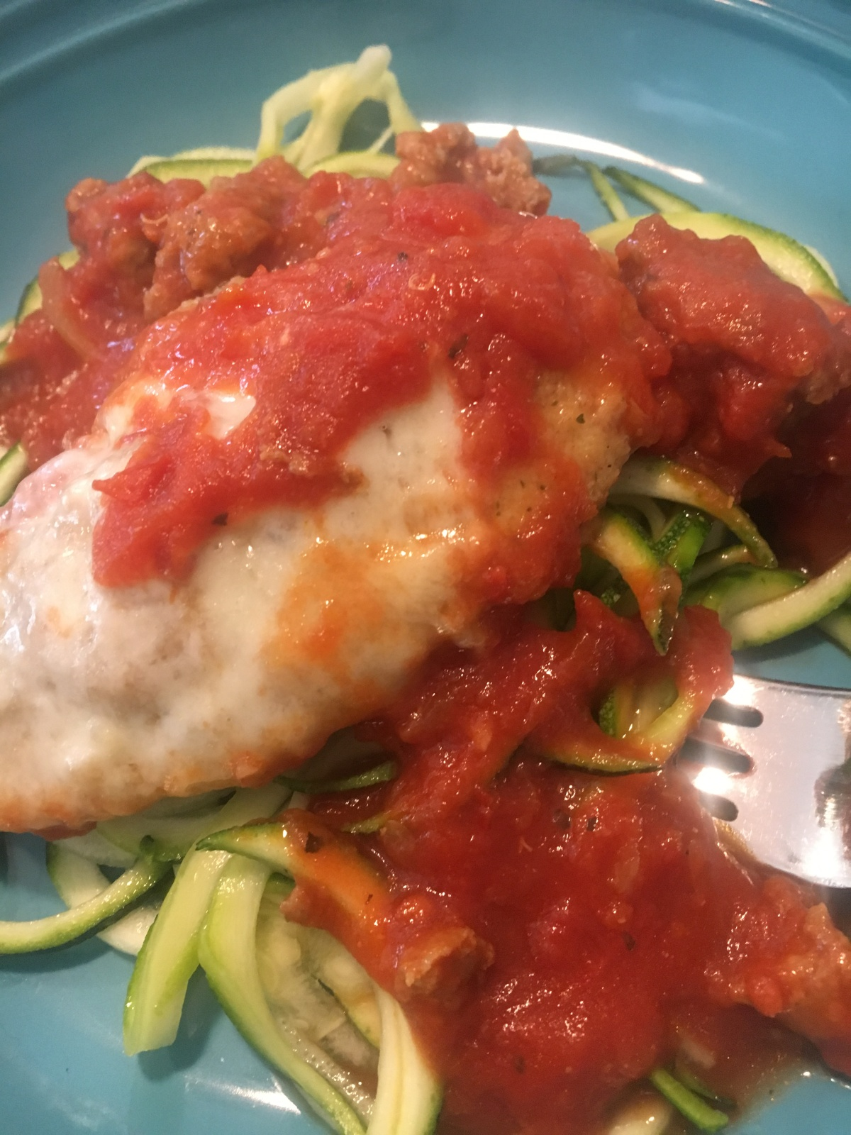 Baked Chicken Parmesan & Zoodles